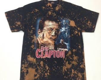 Custom bleach Eric Clapton 2002 Tour T -Shirt