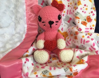 Katy Kitten with blanket gift set