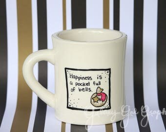 Happiness is a pocketful of bells - Animal Crossing quote mug