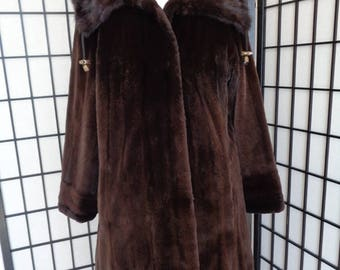 Refurbished new Canadian sheared dark ranch mink fur jacket coat for women woman  size all custom made