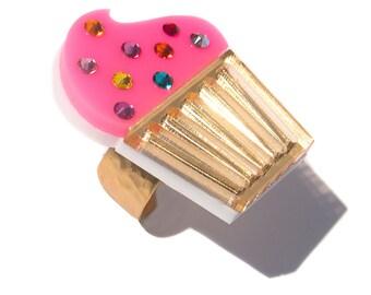 Pink Cupcake Ring