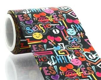 "3"" Tween Graffiti Grosgrain Ribbon - 5 yards"