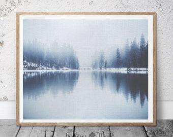 Snow Photography, Forest Print, Comtemporay Print. Minimalist  Art, Nordic Art Print, Scandinavian Art Print, Snow Forest Wall Decor