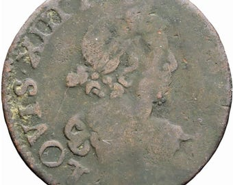 1639 Double Tournois 2 Deniers Louis XIII France Coin