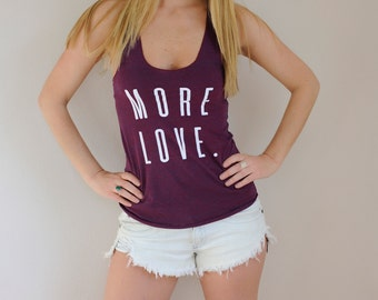 MORE LOVE American Apparel Tri-Blend Racerback Tank