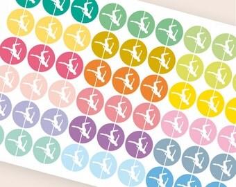 54 workout sticker, pole dance stickers, gym pole fitness stickers, planner stickers, filofax kikkik plum paper happy planner sticker