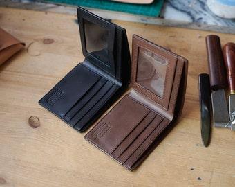 Tochigi Brown Bifold leather wallet, handmade wallet