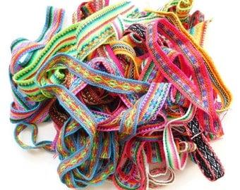 Trim Ribbon Assortment, Remnant Pack Sewing Embellishment  100gr/0.22 lb