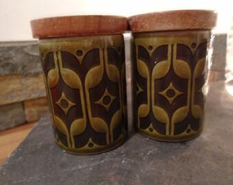 Hornsea Heirloom jars~Hornsea lidded jars~retro storage jars~vintage storage jars~