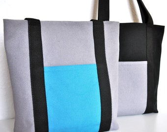 NEW Made to Order canvas tote bag, make your canvas bag, choose the colors and the straps