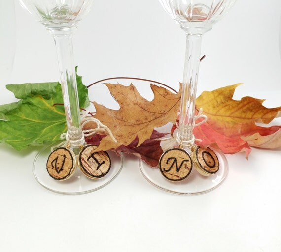 Items Similar To Custom Made Recycled Cork Charms Personalized Wine Cork Glass Charms Wine
