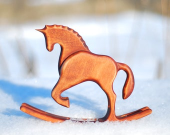 birthday gift for baby shower gift for son baby gift boy wood decor horse wooden art hand carved animals rocking unicorn friendly toys