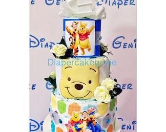 Disney Winnie-the-Pooh diaper cake!