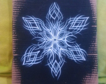 Snow star mandala