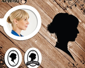 Printable Customize Silhouette from Your Portrait - Silhouette Your Picture, Silhouette Yourself
