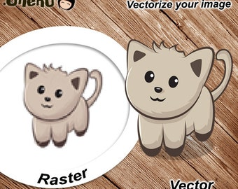 Tracing Logo - Illustration - Image, Vectorize Blur Images, Vectorize Raster Image, Raster to Vector, Redraw Raster to Vector