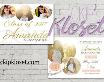 Photo Graduation Announcement  - Senior Graduation Invitation | College Graduation Announcement | Photo Graduation Invite