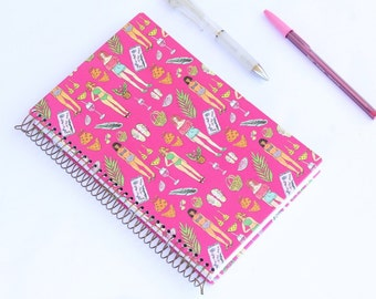 Beach Accesories Notebook-Journal with metal espiral and dot pages