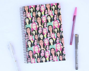 Ladies Notebook-Journal with metal espiral and dot pages