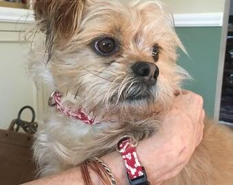 Twinning your pet - Dog collar bracelet set/Dog Collar/Matching Bracelet/Pet Lover Gift/Gifts for her under 20/Gifts for him under 20