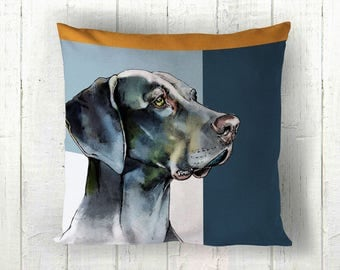 Weimaraner Cushion - Weimaraner Pillow - Weimaraner Gift - Weimaraner Lover - Dog Lover Gift - Weimaraner Decor - Weimaraner Homeware