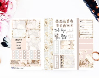 Blooms & Lace Pocket Size Travelers Notebook Stickers | Stickers for Erin Condren Vertical, Planner Stickers, Filofax, Happy Planner