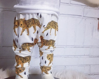 Baby Clothes, Tiger leggings, baby harem pants,baby leggings, baby clothes, hipster baby pants