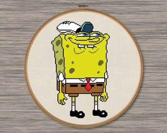 Funny Spongebob - PDF Cross Stitch Pattern