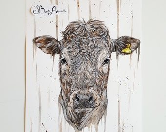 cows, cow artwork, cow wall decor, wall hanging, cow print, cow items, cow gifts, cow art, farming art, agricultural art, farming gifts
