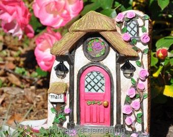 Briar Rose Solar Fairy Door for Miniature Garden, Fairy Garden