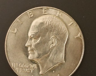 MS-66 Silver Dollar US Coin 1974 D Copper Clad Eisenhower