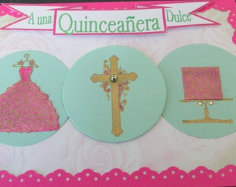 Quinceanera, Hispanics 15 year old girls celebration from Childhood to Adulthood.  Huge celebration Mass and party