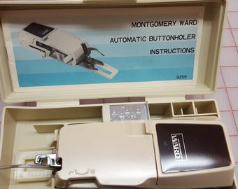 Automatic Buttonholer for the Montgomery Ward machines