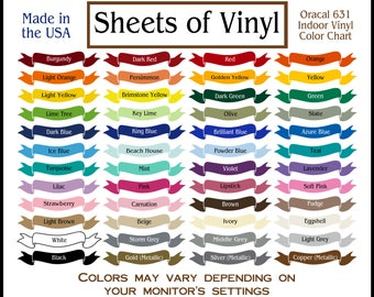 Vinyl Sheets For Cricut And Silhouette Type By Sheetsofvinyl