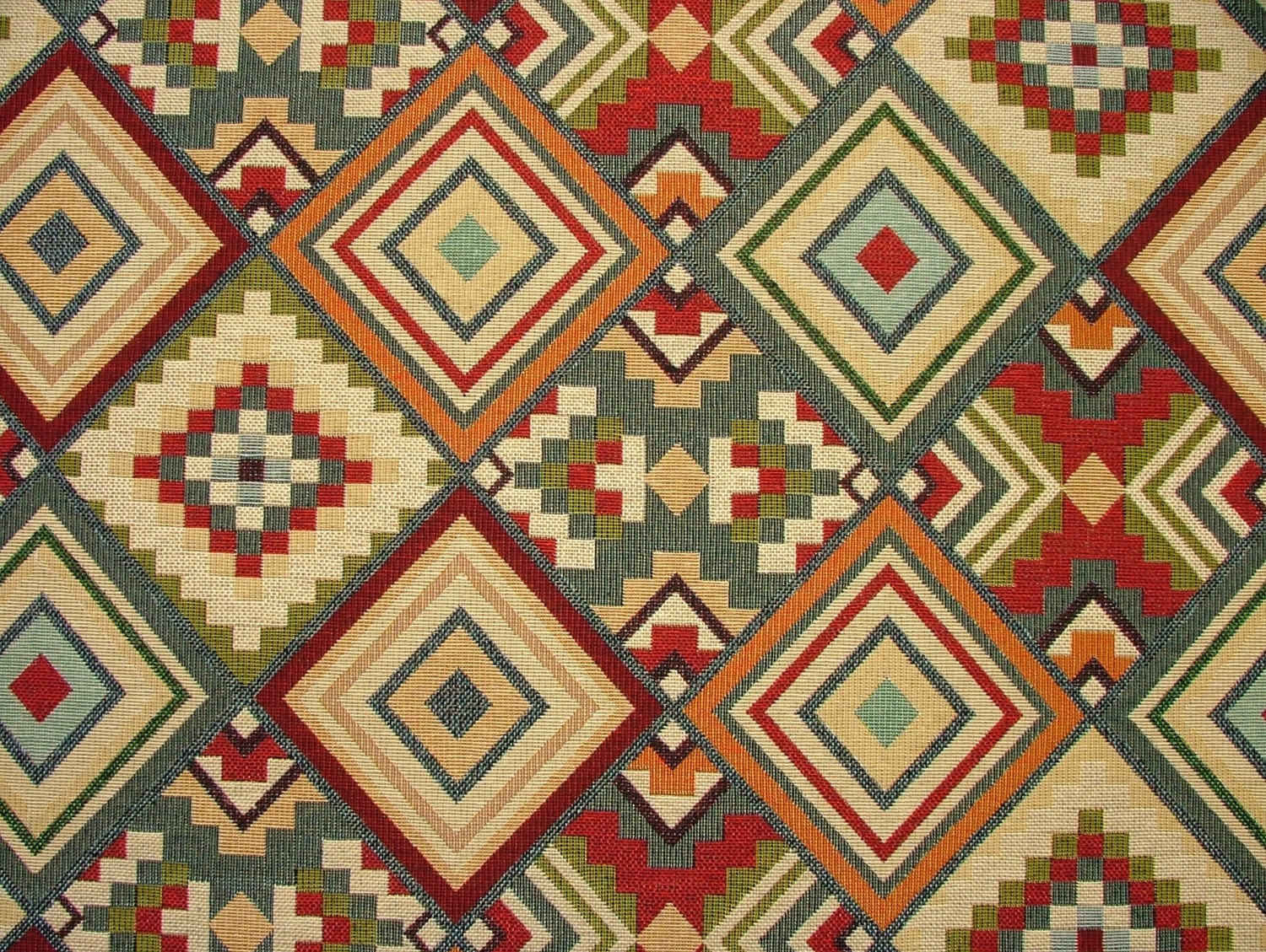 Tapestry Kilim Luxury Designer Fabric Ideal For Upholstery