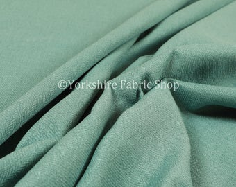 Durable Soft Quality Herringbone Chenille Upholstery Fabric Jade Colour For Interior Furnishing Furniture Curtain Sofa - Sold By The Metre