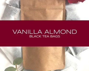 Vanilla Almond Blended Black Tea Bags