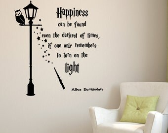 Harry Potter Wall Art Print Harry Potter Gift Dumbledore - Wall decals harry potter