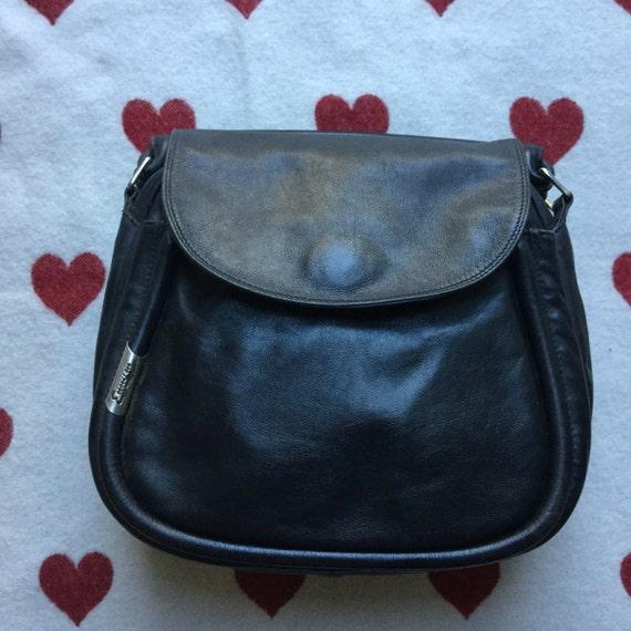 Enny vintage handbag black leather bag
