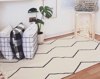 Minimalist rug, Nordic decor,christmas gifts ideas,nordic rug,bohemian rug,Scandinavian decor,modern rug,swedish decor