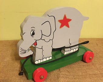 Elephant Platform Pull Toy