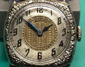 Antique 14k White Gold Elgin Ladies Watch