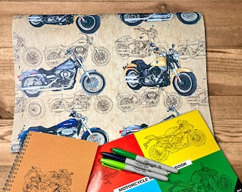 "The 'Dirty Cruiser' Gift Paper | Motorcycle gift wrap | A2 - 16.5 x 23.4in"" / 42cm x 59cm 