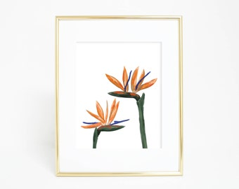 bird of paradise tropical decor tropical art print printable art instant download strelitzia art tropical plant art tropical botanicals