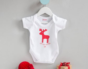 London bus design baby onesie made in the uk new baby personalised first christmas baby gift first christmas baby grow personalised christmas onesie bespoke negle Images