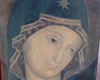 CONSOLATA / La Virgin he de Turin/icon fathers / Reproduction on wood solid/original Turin/fourteenth sanctuary