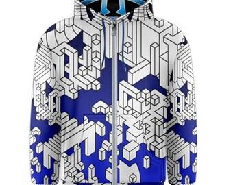 Zip-up hoodie - Interdimensional (Blue)