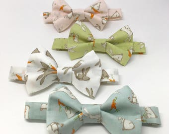 Easter Bow Tie // Bunny Bow Tie // Toddler Bow Tie // Baby Bow Tie // Pastel Bow Tie // Easter Bunny // Easter Colors // Baby Bunnies