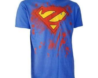 SUPER ZOMBIE T SHIRT Horror Undead Superman Logo