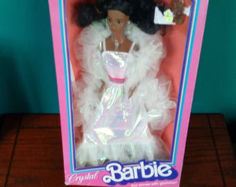 Mattel Vintage Crystal Barbie Doll African American Rare Doll